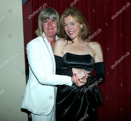 Stock Image of Janie Dee Opening Night at the Pheasantry On Kings Road Chelsea London Janie Dee with Jane Milligan