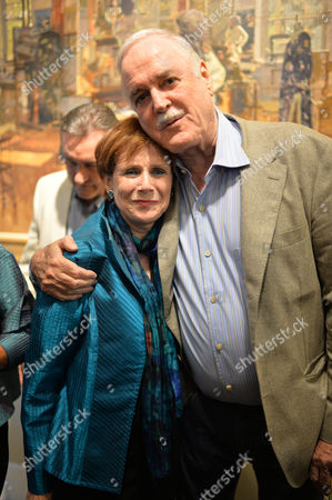 John Cleese: the California Collection - Private View Chris Beetles Gallery Ryder Street Mayfair London John Cleese and Marjorie Wallace the Launch of A New Exhibition of the Python Star's Art Collection Cleese is Selling 100 Paintings and Movie Memorabilia in Order to Pay For His Divorce From His Third Wife
