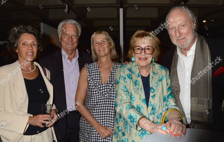 A Ww1 Josephine Hart Poetry Platform at the Lyttelton at the National Theatre Southbank London Lord David and Lady Deborah Owen Phillipa Walker Lady Antonia Fraser & Ed Victor