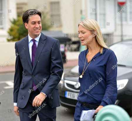 Labour Conference at Brighton Sussex Ed Miliband and Rachel Kinnock