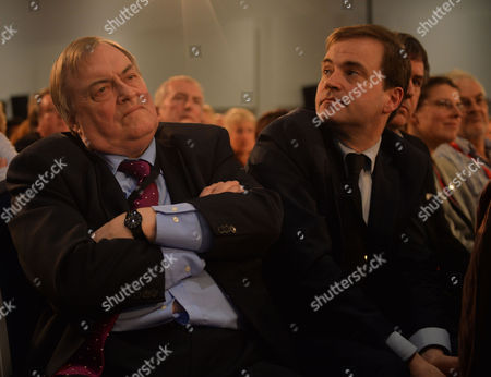Stock Picture of Labour Party Special Conference at the Excel Centre Docklands East London Lord John Prescott and His Son David Prescott