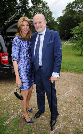 Lady Annabel Goldsmith's Summer Party at Her Home Ormeley Lodge Ham Common Cosima Pavoncelli with Her Father Claus Von Bulow