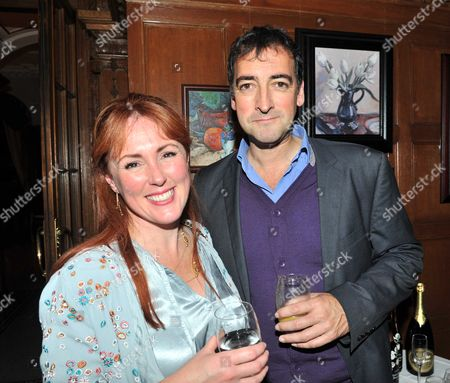 Launch Party to Celebrate the Oscar Wilde's 158th Birthday and the the Publication of Oscar Wilde and the Murders at Reading Gaol at the Cadogan Sloane Street London Alistair Mcgowan with His Wife Charlotte Page