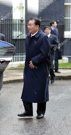 Li Changchun of the Chinese Communist Party Arrives at Number 11 Downing Street Before His Meeting with Prime Minister David Cameron