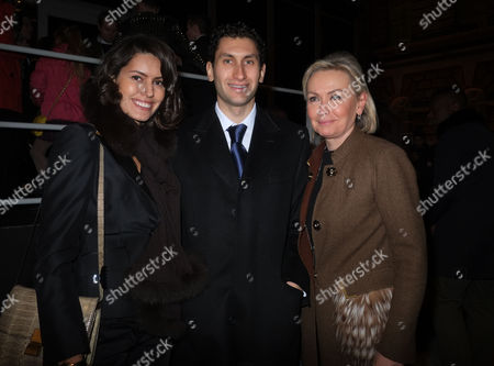 London Fashion Week Issa at Somerset House Brenda Costa Karim Al-fayed & His Mother Heini Fayed