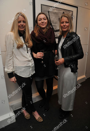 Private View of Marco Glaviano: Supermodels at the Little Black Gallery Park Walk Fulham London Astrid Harbord Zenouska Mowatt and Davina Harbord