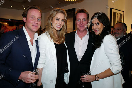 Private View of Marco Glaviano: Supermodels at the Little Black Gallery Park Walk Fulham London Piers Bethwith and Josephine Kime with Henry Bethwith & Louise Cole