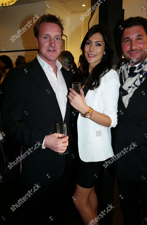 Private View of Marco Glaviano: Supermodels at the Little Black Gallery Park Walk Fulham London Henry Bethwith & Louise Cole & Georgio Veroni