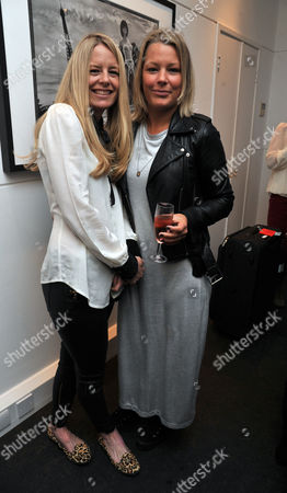 Private View of Marco Glaviano: Supermodels at the Little Black Gallery Park Walk Fulham London Astrid Harbord and Her Sister Davina Harbord