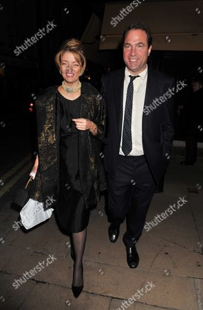 Lord Conrad Black Book Launch Party at Loulou's 5 Hertford Street Shepherds Market London Petronella Wyatt and Her Husband