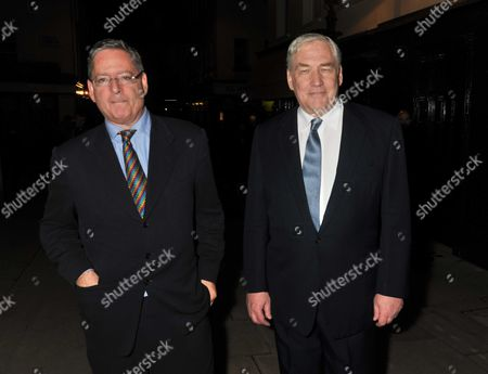 Lord Conrad Black Book Launch Party at Loulou's 5 Hertford Street Shepherds Market London Dominic Lawson & Lord Conrad Black