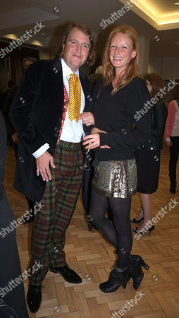 Lord of the Isle – the Extravagant Life and Times of Colin Tennant Book Launch at Bonhams New Bond Street Mayfair London Christopher Tennant with Olivia Inge