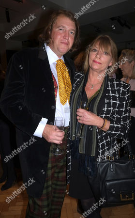 Stock Picture of Lord of the Isle – the Extravagant Life and Times of Colin Tennant Book Launch at Bonhams New Bond Street Mayfair London Christopher Tennant with His Wife Johanna Hurn