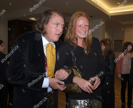 Stock Photo of Lord of the Isle – the Extravagant Life and Times of Colin Tennant Book Launch at Bonhams New Bond Street Mayfair London Christopher Tennant with Olivia Inge