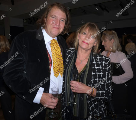 Lord of the Isle – the Extravagant Life and Times of Colin Tennant Book Launch at Bonhams New Bond Street Mayfair London Christopher Tennant with His Wife Johanna Hurn