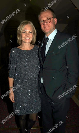 Man Booker Prize at the Guildhall City of London Mariella Frostrup with Her Husband Jason Mccue