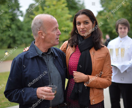 Man Booker Prize Short List Party at the Serpentine Gallery Kensington Gardens London Shortlisted Authors Jim Crace & Jhumpa Lahiri