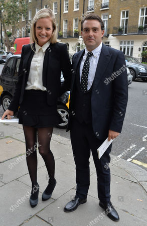 Stock Photo of Mark Shand Memorial Service at St Pauls Church Wilton Place Knightsbridge London Eloise Anson and Her Husband