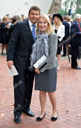 Mark Shand Memorial Service at St Pauls Church Wilton Place Knightsbridge London Lady Helen Stewart and Her Son Mark