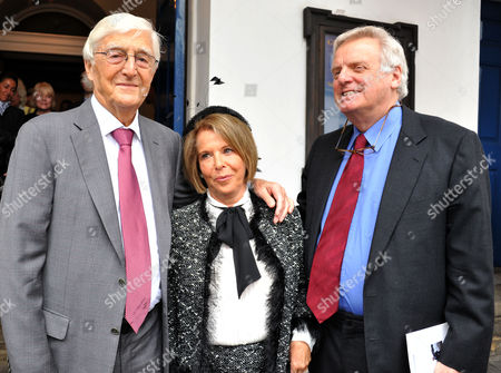 Memorial Service For Alan Whicker Grosvenor Chapel South Audley Street Mayfair London Sir Michael Parkinson Valerie Kleeman and Lord Michael Grade