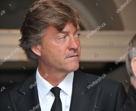 Stock Image of Memorial Service For Alan Whicker Grosvenor Chapel South Audley Street Mayfair London Richard Madeley