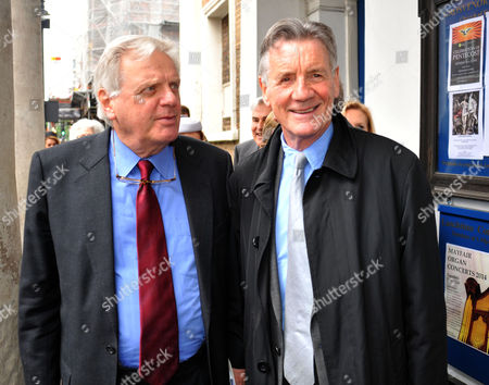 Memorial Service For Alan Whicker Grosvenor Chapel South Audley Street Mayfair London Lord Michael Grade and Michael Palin