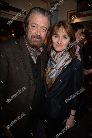 The Chocolate Factory's Merrily We Roll Along West End Transfer at the Harold Pinter Theatre Panton Street Westminster London Roger Allam with His Wife Rebecca Saire