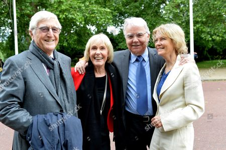 Michael Winner - Memorial Service at the National Police Memorial the Mall London Michael & Mary Parkinson with Bill Kenwright and Jenny Seagrove