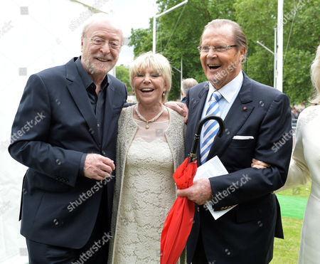 Michael Winner - Memorial Service at the National Police Memorial the Mall London Geraldine Winner with Sir Michael Caine and Sir Roger Moore