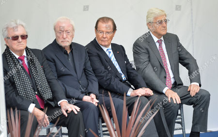 Michael Winner - Memorial Service at the National Police Memorial the Mall London Leslie Bricusse Sir Michael Caine Sir Roger Moore and Sir Michael Parkinson