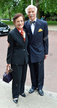 Michael Winner - Memorial Service at the National Police Memorial the Mall London Anton Mossiman and His Wife