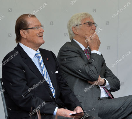 Michael Winner - Memorial Service at the National Police Memorial the Mall London Sir Roger Moore and Sir Michael Parkinson