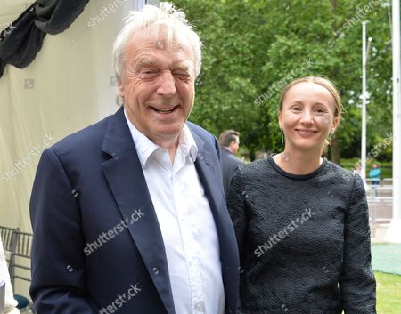Stock Image of Michael Winner - Memorial Service at the National Police Memorial the Mall London Sir Frank Lowe and Martina Lewis