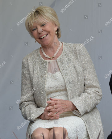 Stock Picture of Michael Winner - Memorial Service at the National Police Memorial the Mall London Michaels Winners Widow Geraldine Lynton-edwards