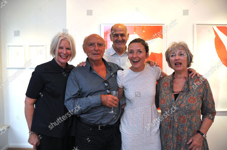 Natasha Law Private View of Put It On Paper at 11 Ecclestone Street Victoria London at 11 Ecclestone Street Victoria London Natasha Law ( C ) with Her Parents Peter & Margaret Law and Friends Betty Jackson and Her Husband David Cohen