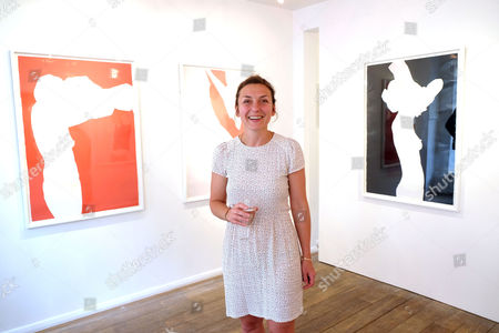 Stock Image of Natasha Law Private View of Put It On Paper at 11 Ecclestone Street Victoria London at 11 Ecclestone Street Victoria London Natasha Law
