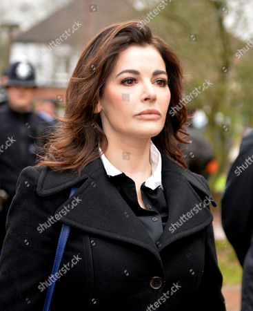 Nigella Lawson with Her Brother Dominic Lawson Arrives at Isleworth Crown Court
