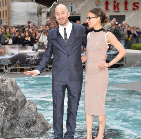 Noah Premiere at the Ocean Leicester Square London Darren Aronofsky and Brandi-ann Milbradt