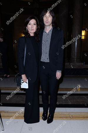 London, England, 16th September 2016: Bobby Gillespie and Katy England at the Pam Hogg Fashion Show at Freemasons Hall During Aw16 London Fashion Week On the 16th September 2016