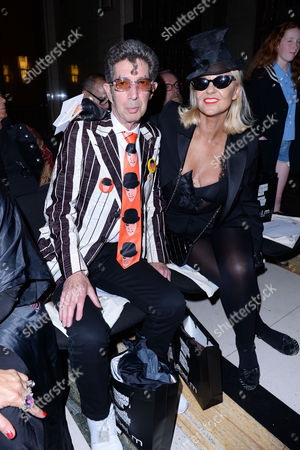 London, England, 16th September 2016: Duggie Fields and Amanda Eliasch at the Pam Hogg Fashion Show at Freemasons Hall During Aw16 London Fashion Week On the 16th September 2016