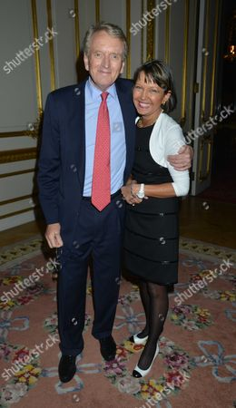 Pelham Bell Pottinger Summer Party at Lancaster House St James London Sir Christopher Meyer with His Wife Lady Catherine Meyer
