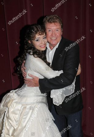 Phantom of the Opera Celebrates Its 10 000th Performance at the Matinee at Her Majesty's Theatre Haymarket London L to R Sofia Escobar Who Plays Christine DaaŽ with Michael Crawford *** Local Caption ***