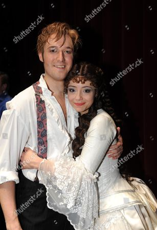 Phantom of the Opera Celebrates Its 10 000th Performance at the Matinee at Her Majesty's Theatre Haymarket London L to R Will Barratt Raoul Vicomte De Chagny & Sofia Escobar Who Plays Christine DaaŽ *** Local Caption ***