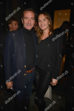 Photographs by Julian Lennon Private View at the Little Black Gallery Park Walk Fulham London Robert Hanson with His Wife Masha Markova