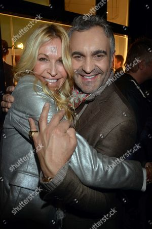 Photographs by Julian Lennon Private View at the Little Black Gallery Park Walk Fulham London Melissa Odabash with Martyn Lawrence Bullard