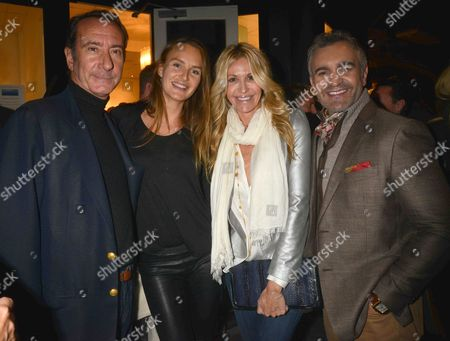 Photographs by Julian Lennon Private View at the Little Black Gallery Park Walk Fulham London Robert Hanson with His Wife Masha Markova with Melissa Odabash and Martyn Lawrence Bullard