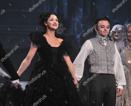 Press Night Curtain Call and After Party For Great Expectations at the Vaudeville Theatre the Strand and the Waldorf Hotel Aldwych London Jack Ellis Chris Ellison Paula Wilcox & Grace Rowe