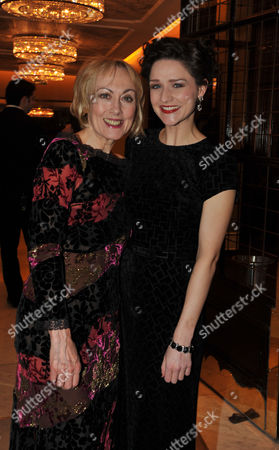 Press Night Curtain Call and After Party For Great Expectations at the Vaudeville Theatre the Strand and the Waldorf Hotel Aldwych London Paula Wilcox & Grace Rowe
