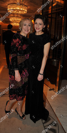 Stock Photo of Press Night Curtain Call and After Party For Great Expectations at the Vaudeville Theatre the Strand and the Waldorf Hotel Aldwych London Paula Wilcox & Grace Rowe