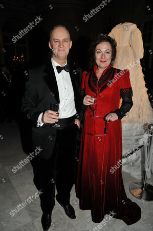 Press Night Curtain Call and After Party For Great Expectations at the Vaudeville Theatre the Strand and the Waldorf Hotel Aldwych London Tim Mcinnerny and Custom Designer Annie Gosney